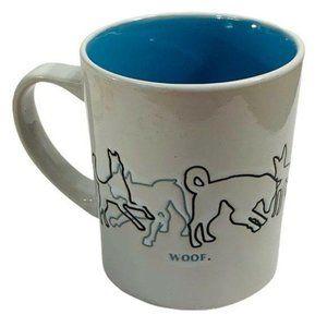 Dog Lover Mainstays Coffee Cup Woof Embossed Art